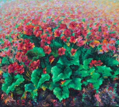 Gėlės 60x73