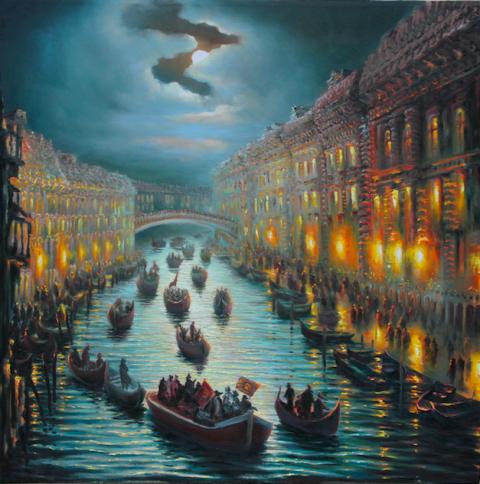 Naktinė Venecija 100x100